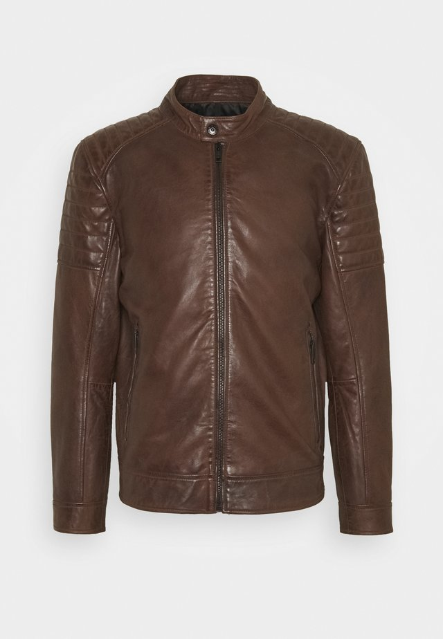 DERRY - Leather jacket - bison