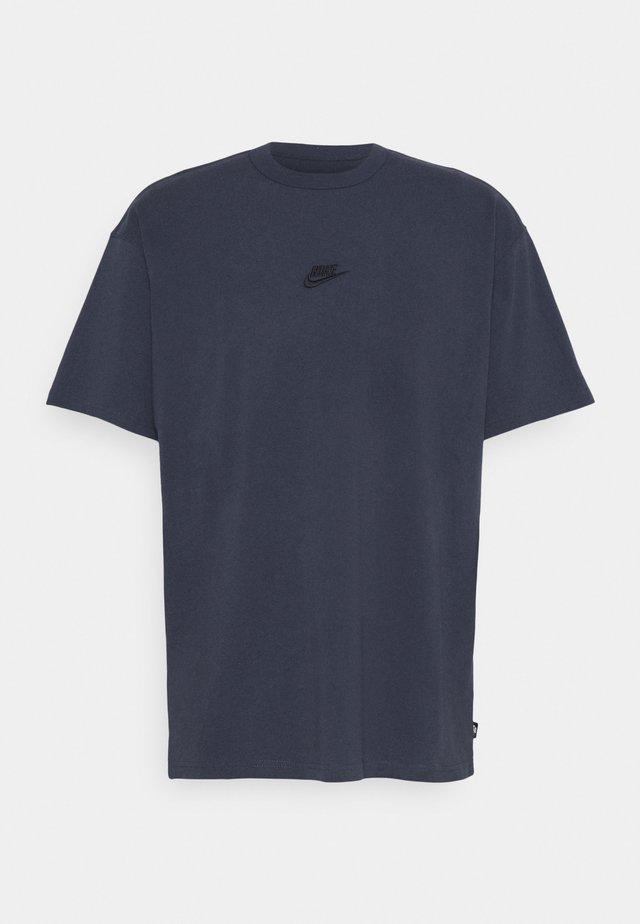 TEE PREMIUM ESSENTIAL - T-Shirt basic - thunder blue/black