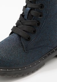 TOM TAILOR - Lace-up ankle boots - navy glitter - 2