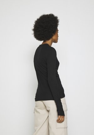 NMELENA LONG SLEEVE - Long sleeved top - black