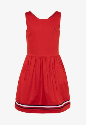 GLOBAL STRIPE TAPE DRESS  - Day dress - red