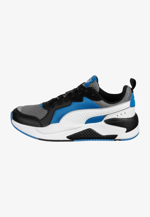 Trainers - gry-white-black-dreseden blue