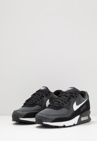 Nike Sportswear - AIR MAX 90 - Sneakers - black/white/metallic silver - 2