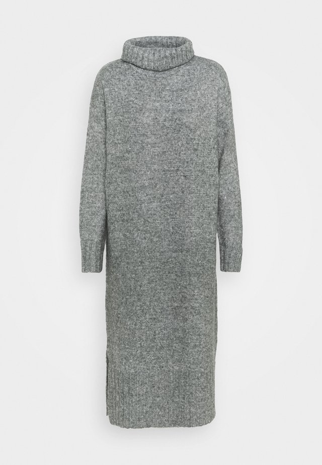 ROLL NECK DRESS - Neulemekko - dark grey