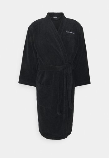 LOGO BATHROBE UNISEX - Dressing gown - black