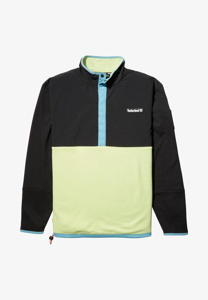 Timberland - ARCHIVE OVERHEAD HYBRID - Sweatshirt - black/luminary green