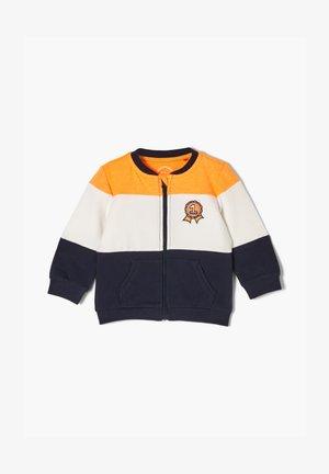 MIT BLOCKSTREIFEN - Zip-up hoodie - blue
