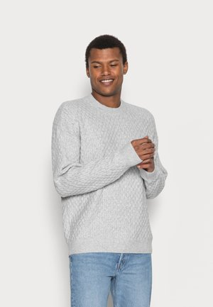 RELAXED SOFTAF CREW - Sweter - light grey heather