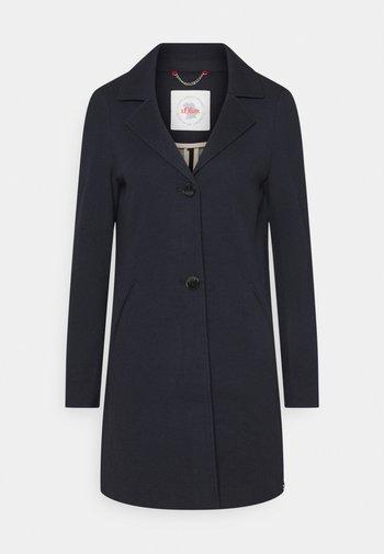 Klasyczny płaszcz - navy melange