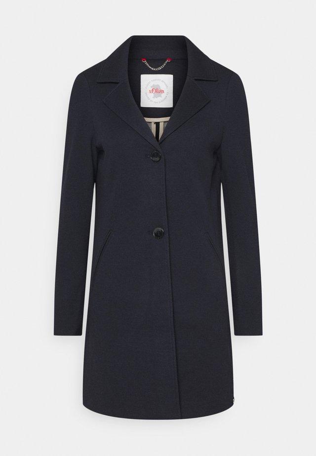 Płaszcz wełniany /Płaszcz klasyczny - navy melange