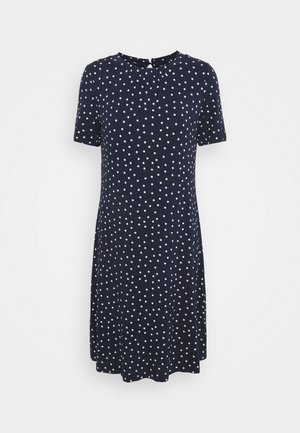 SPOT SWING - Jersey dress - dark blue