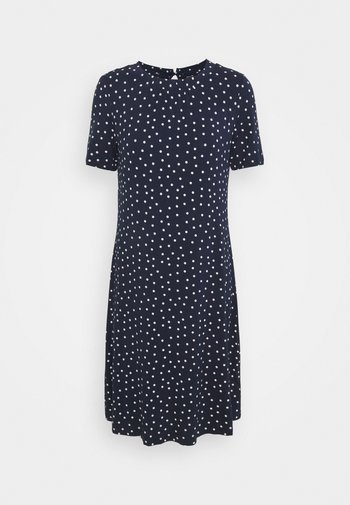 SPOT SWING - Jersey dress - dark blue