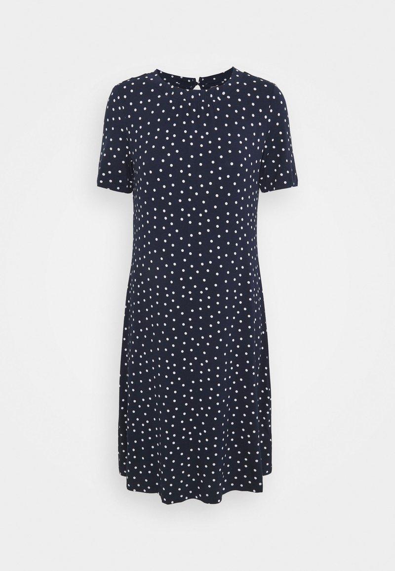 Marks & Spencer London - SPOT SWING - Žerzejové šaty - dark blue
