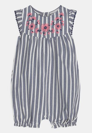 FLORAL STRIPE - Overal - blue/white