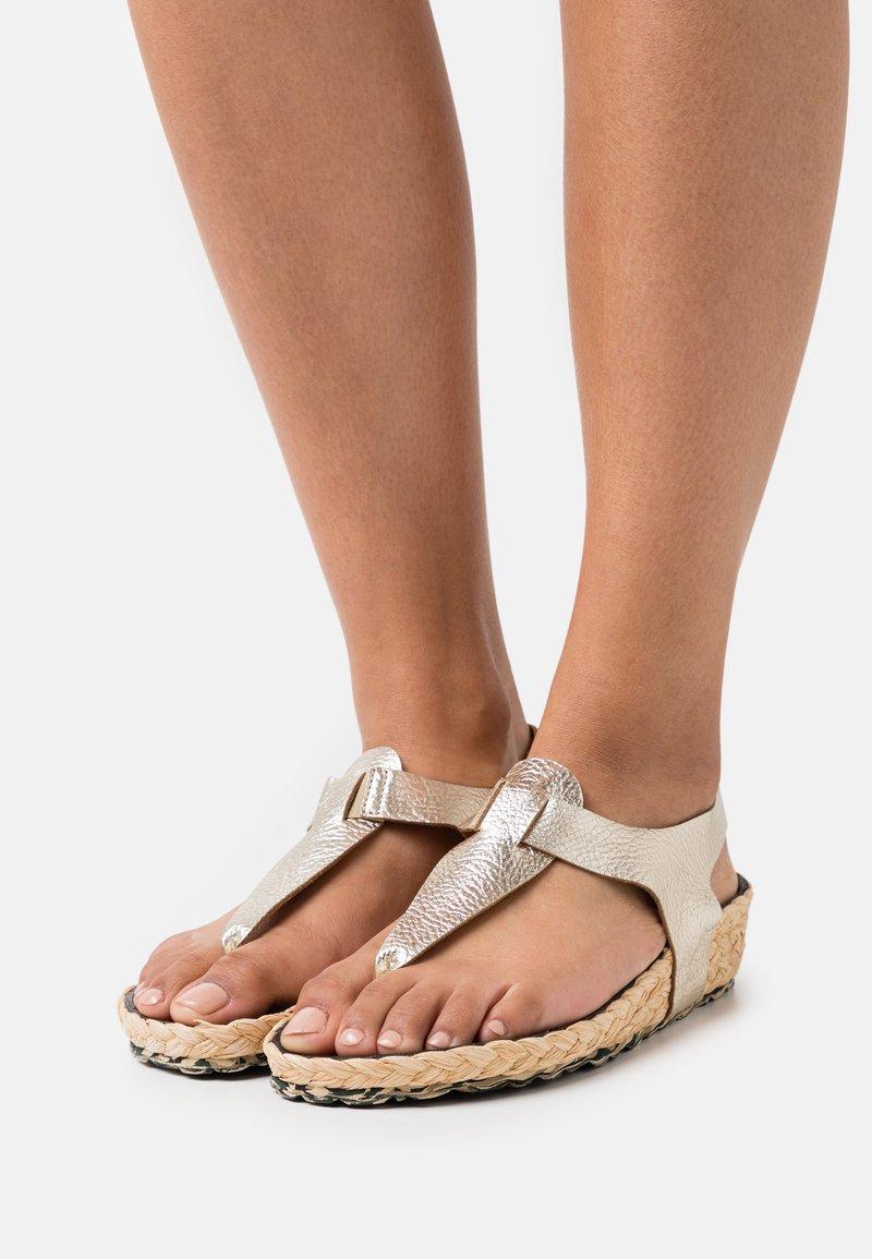 MAHONY - T-bar sandals - gold