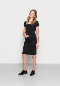 Anna Field MAMA - NURSING SET - Leggings - Trousers - Legginsy - black - 1