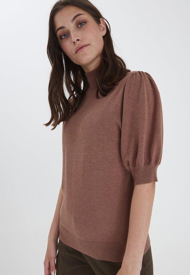 Sweter - brownie melange