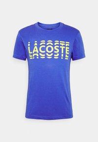 Lacoste - T-shirt imprimé - obscurite/citron - 4