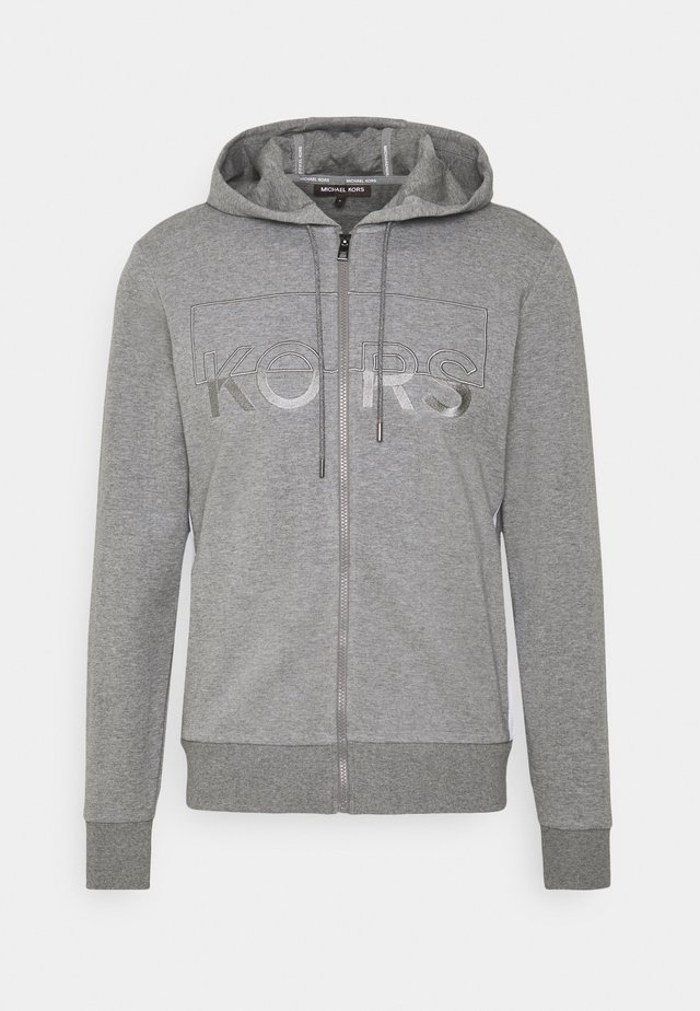KI HOODIE - veste en sweat zippée - ash melange