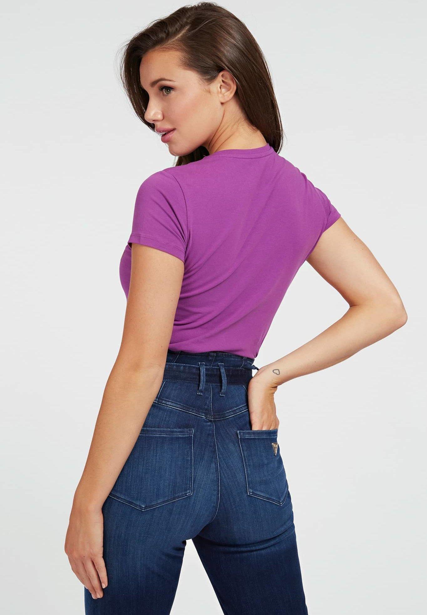Guess ANGELIKA  - T-shirt con stampa - paars - Abbigliamento da donna Perfetto