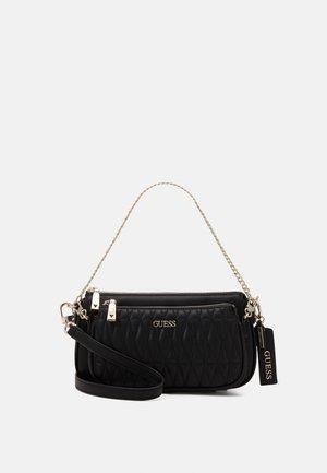 ARIE DOUBLE POUCH CROSSBODY - Across body bag - black