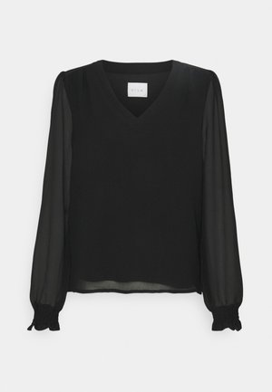 VIAMIONE V NECK L/S SU - NOOS - Blouse - black