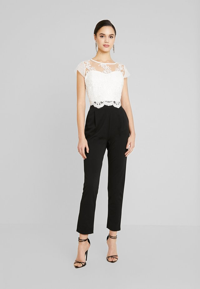 Jumpsuit - black/white