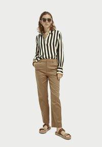 Scotch & Soda - Button-down blouse - black/off-white - 1