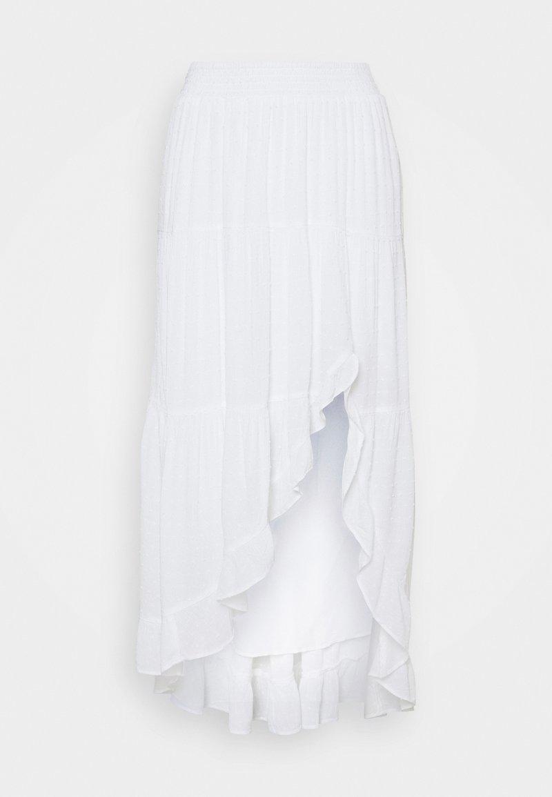 Hollister Co. - ASYM RUFFLE SET MIDI SKIRT - Maxi skirt - white