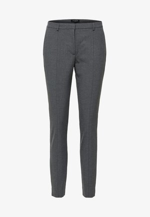 MID WAIST - Trousers - medium grey melange