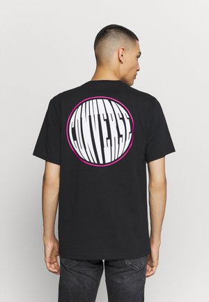 FISH EYE TEE - Triko s potiskem - black