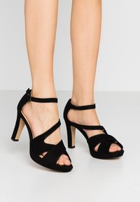 s.Oliver - High heeled sandals - black - 0