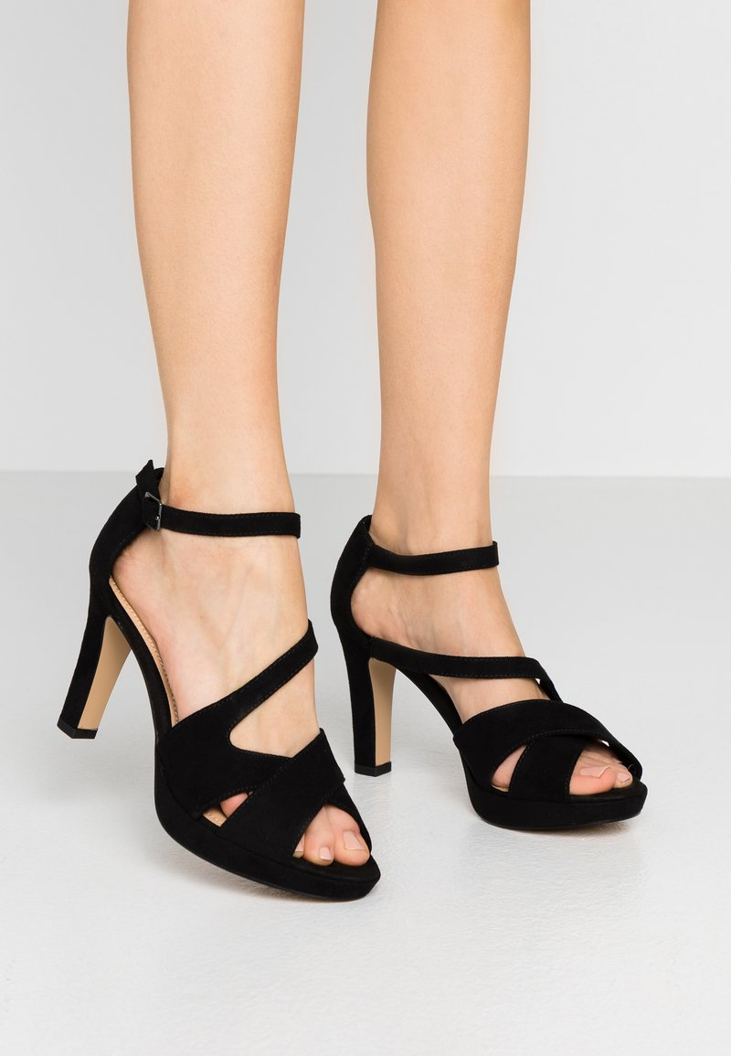 s.Oliver - High heeled sandals - black
