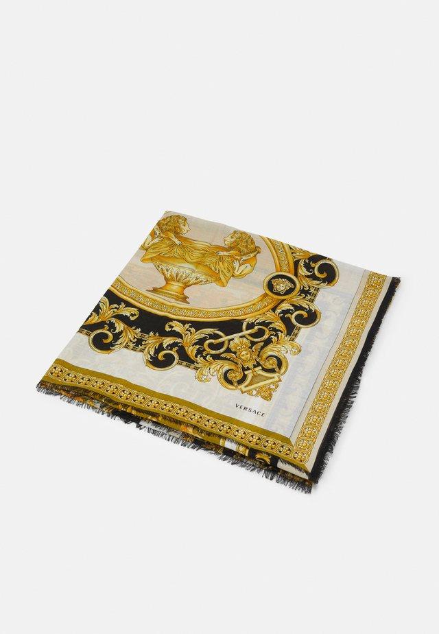 BAROCCO SHAWL UNISEX - Šátek - bianco/oro/kaki
