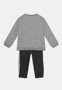 adidas Performance - LOGO SET UNISEX - Treningsdress - medium grey heather/white/black - 1