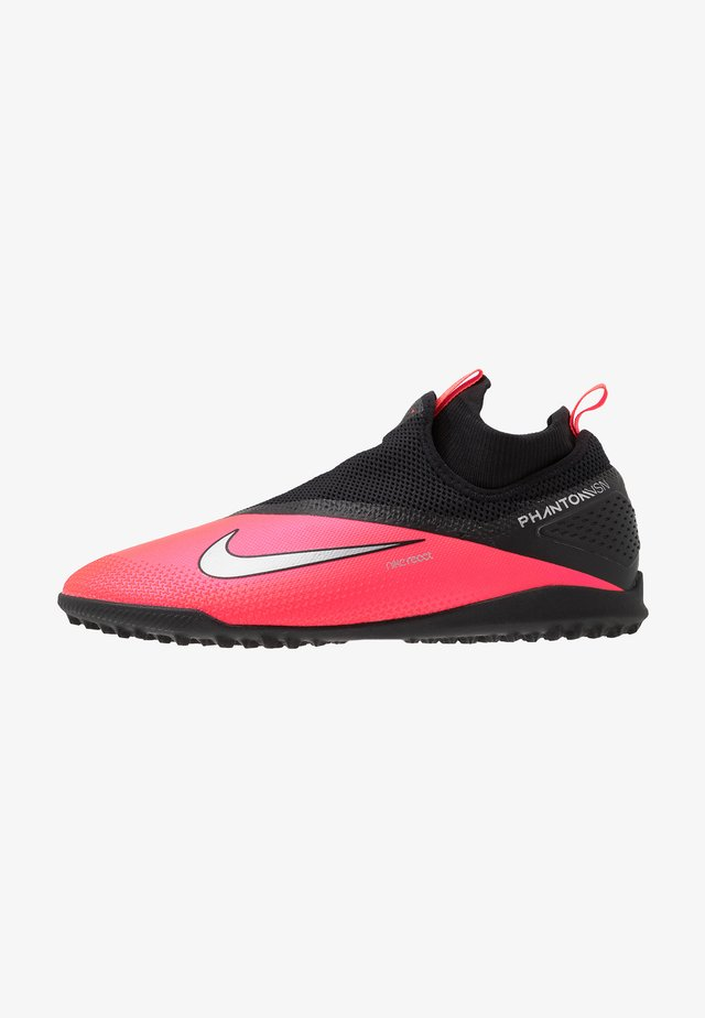REACT PHANTOM VISION 2 PRO DF TF - Astro turf trainers - laser crimson/metallic silver/black