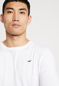 Hollister Co. - Top s dlouhým rukávem - grey/white/navy