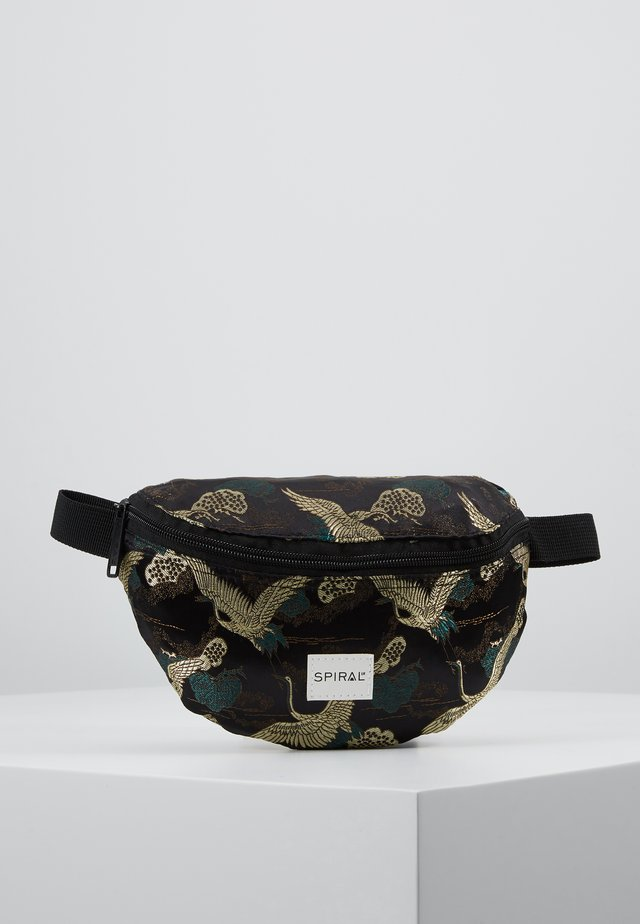BUM BAG - Ledvinka - paradise birds /black