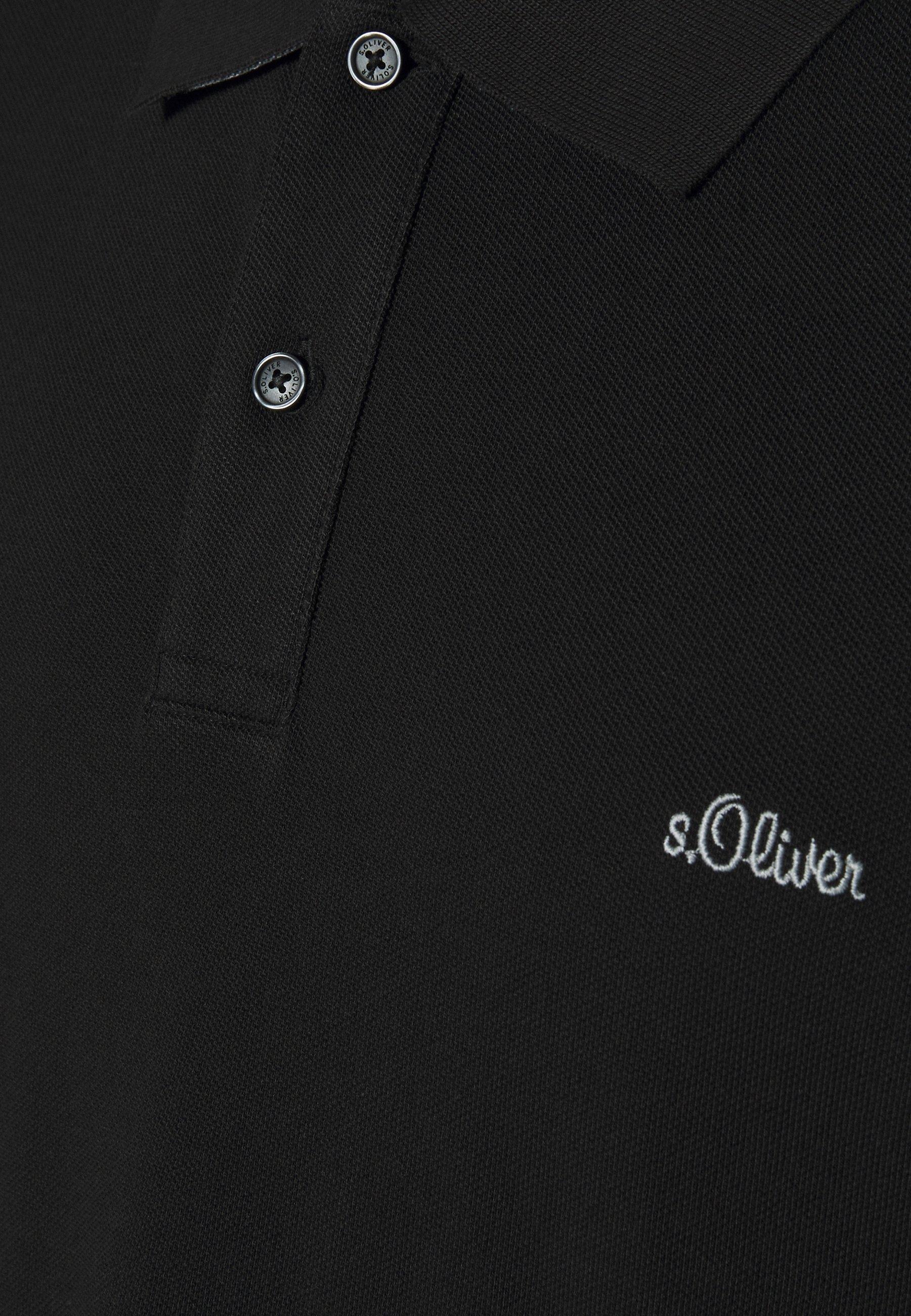 s.Oliver KURZARM - Polo shirt - black klgbb