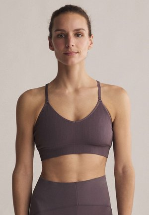Light support sports bra - dark purple