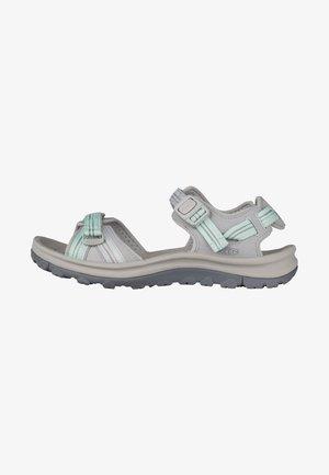TERRADORA II OPEN TOE - Walking sandals - light gray/ocean wave