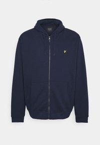 PLUS ZIP THROUGH HOODIE - Zip-up sweatshirt - navy