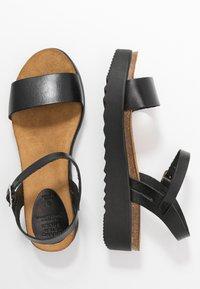 Grand Step Shoes - EDEN - Platform sandals - black - 3