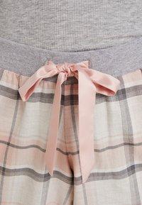 Hunkemöller - PANT TWILL CHECK CUFF - Nattøj bukser - cloud pink - 5