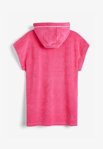 MULTI HOODED PONCHO - Lehká bunda - pink
