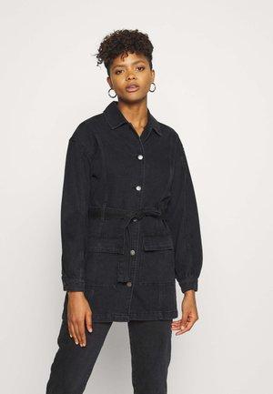 JDYSANSA BELTED JACKET  - Short coat - black denim