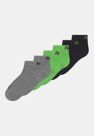 QUARTER 6 PACK UNISEX - Socks - green flash