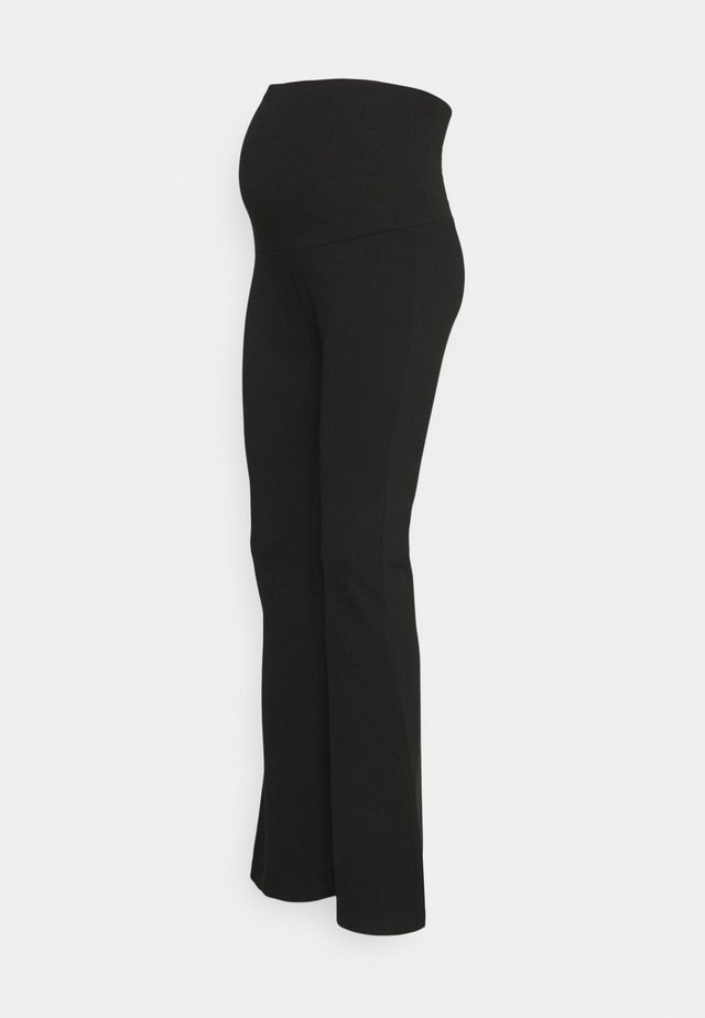 PANTS FLARE - Broek - black