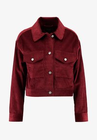 Abercrombie & Fitch - TRUCKER JACKET - Chaqueta fina - red - 4