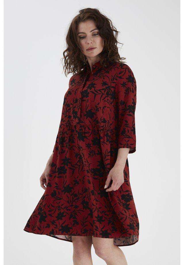 FRLAVISCO - Shirt dress - barn red mix